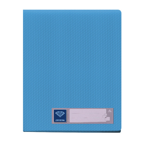 Фото - Папка с 20 прозр.вклад. Бюрократ Crystal -CR20BLUE A4 пластик 0.5мм голубой 30 шт./кор. папка 60ф a4 gems голубой пластик 0 7мм