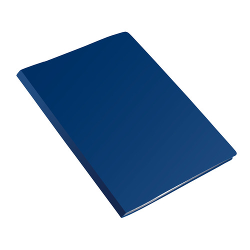 Папка с 20 прозр.вклад. Бюрократ Economy -EC20BLUE A4 пластик 0.4мм синий 40 шт./кор.