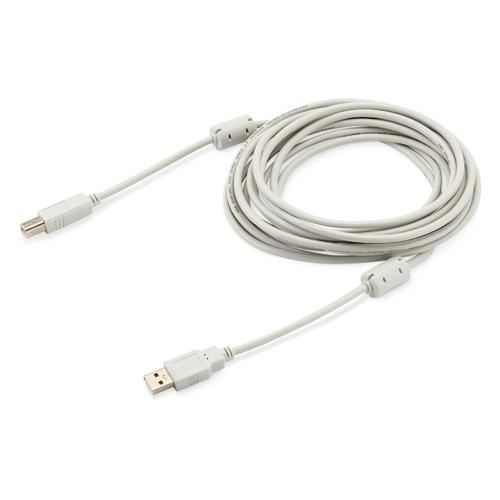 Фото - Кабель USB2.0 BURO USB A(m) - USB B(m), ферритовый фильтр , 5м [usb2.0-am/bm-5m-mg] кабель trendnet tew l208 кабель lmr200 reverse to n type 8 метров