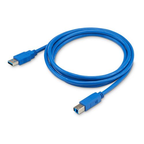 Фото - Кабель USB3.0 BURO USB A(m) - USB B(m), 1.8м, синий [usb3.0-am/bm] кабель