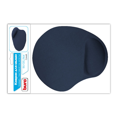 Коврик для мыши BURO BU-GEL, синий [bu-gel/blue] коврик buro для мыши bu gel blue 817305