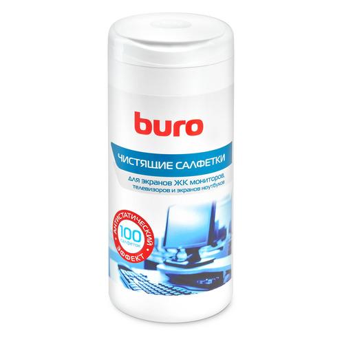 Влажные салфетки BURO BU-Tscreen, 100 шт (туба) влажные салфетки buro bu tsurface 100 шт туба