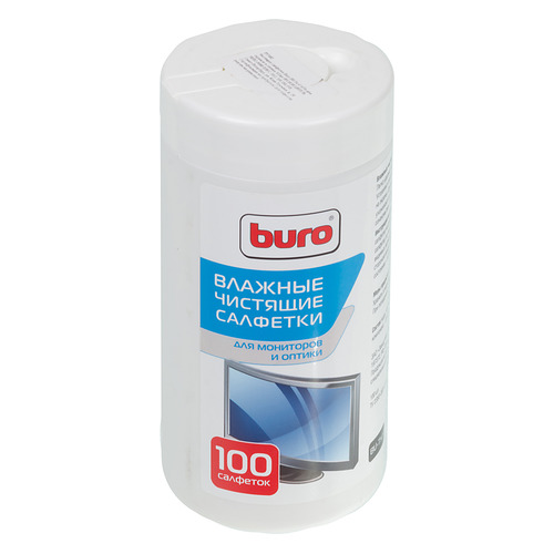 Влажные салфетки BURO BU-Tscrl, 100 шт (туба) цена и фото