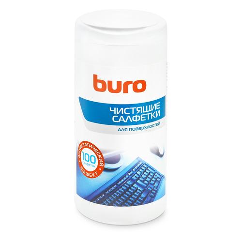Влажные салфетки BURO BU-Tsurface, 100 шт (туба) влажные салфетки buro bu tsurface 100 шт туба