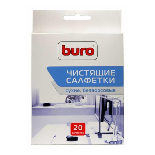 Сухие салфетки BURO BU-Udry, 20 шт buro bu udry сухие салфетки 20 шт для оргтехники для оптики