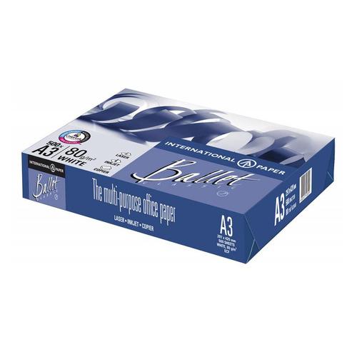 Бумага International Paper Ballet Classic A3/80г/м2/500л./белый CIE153% общего назначения(офисная) 5 шт./кор. бумага cactus cs opb a480250 a4 80г м2 250л белый cie153% общего назначения офисная