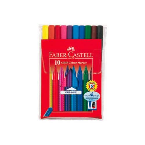 Фломастеры Faber-Castell Eberhard Faber Grip 155310 10цв. футляр цена 2017