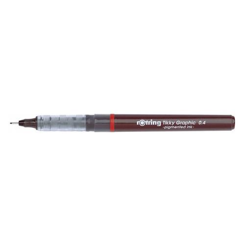 Ручка капиллярная Rotring Tikky Graphic (1904754) 0.4мм черные чернила 12 шт./кор. ручка шариковая rotring tikky 3 в 1 s0891180 0 5 мм цвет корпуса белый цвет чернил синий