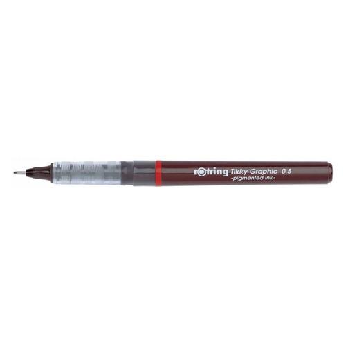 Ручка капиллярная Rotring Tikky Graphic (1904756) 0.5мм черные чернила 12 шт./кор. чернила p rker черные