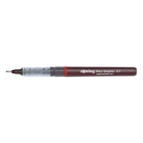 Ручка капиллярная Rotring Tikky Graphic (1904757) 0.7мм черные чернила 12 шт./кор. ручка шариковая rotring tikky 3 в 1 s0891180 0 5 мм цвет корпуса белый цвет чернил синий