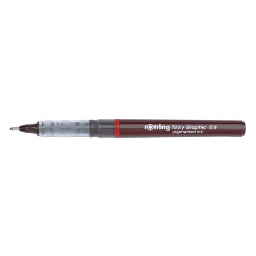 Ручка капиллярная Rotring Tikky Graphic (1904758) 0.8мм черные чернила 12 шт./кор. чернила p rker черные
