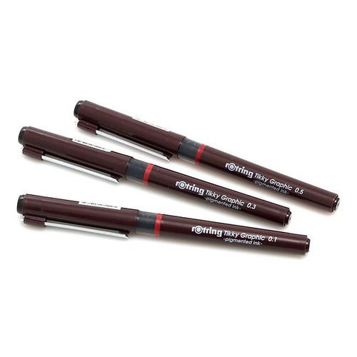 Набор ручек капиллярных ROTRING Tikky Graphic 1904780, черный Tikky Graphic по цене 660