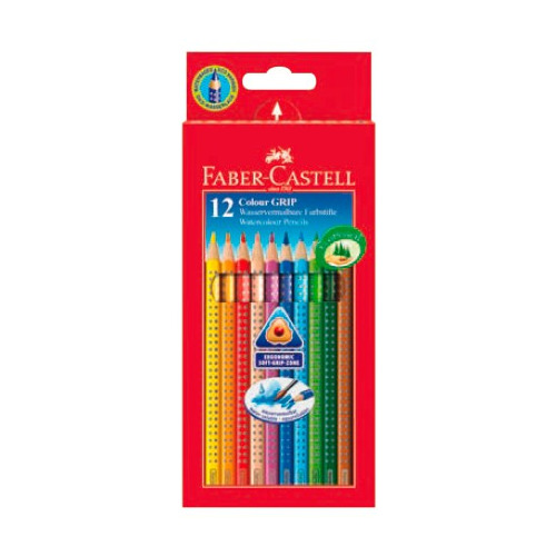 цены на Карандаши цветные Faber-Castell Grip 112412 трехгран. 12цв. карт.кор.  в интернет-магазинах