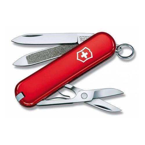 Складной нож VICTORINOX Classic, 7 функций, 58мм, красный складной нож victorinox classic le2020 deep dive 7 функций 58мм голубой рисунок