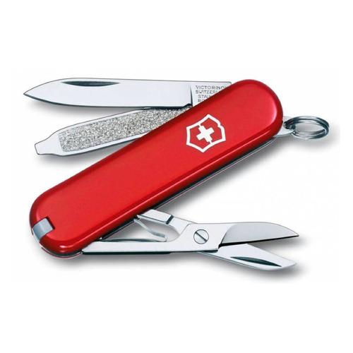 Складной нож VICTORINOX Classic, 7 функций, 58мм, красный складной нож victorinox classic le2020 skateboarding 7 функций 58мм красный рисунок