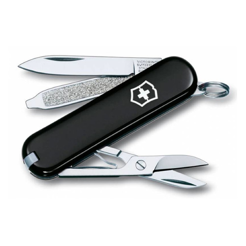 цена на Складной нож VICTORINOX Classic, 7 функций, 58мм, черный