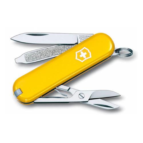 цена на Складной нож VICTORINOX Classic, 7 функций, 58мм, желтый
