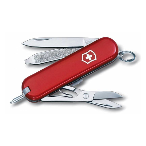 цена на Складной нож VICTORINOX Signature, 7 функций, 58мм, красный