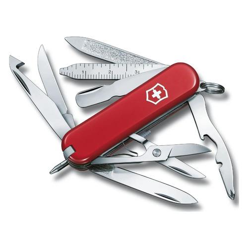 Складной нож VICTORINOX MiniChamp, 17 функций, 58мм, красный складной нож victorinox manager 10 функций 58мм красный