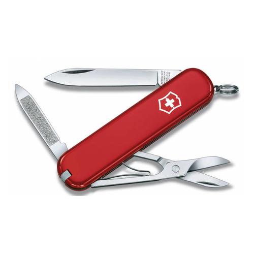 цена на Складной нож VICTORINOX Ambassador, 7 функций, 74мм, красный