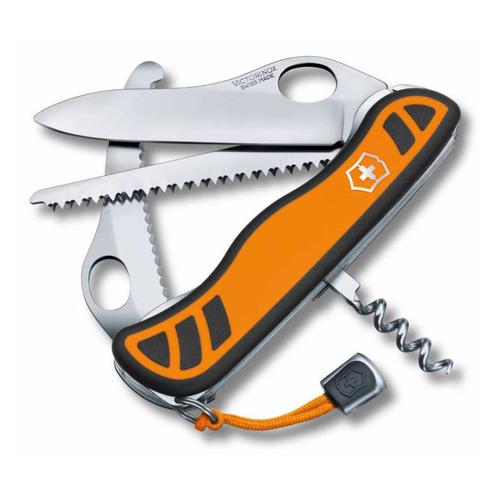 цена на Складной нож VICTORINOX Hunter XT One Hand, 6 функций, 111мм, оранжевый / черный