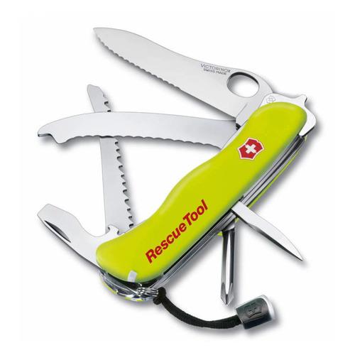 купить Складной нож VICTORINOX RescueTool One Hand, 12 функций, 111мм, салатовый недорого