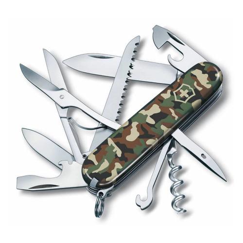 Складной нож VICTORINOX Huntsman, 15 функций, 91мм, камуфляж костюм маскировочный летний huntsman стрелок куртка брюки цвет горох камуфляж str 100 147 размер 56 58
