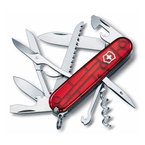 цены Складной нож VICTORINOX Huntsman, 15 функций, 91мм, красный полупрозрачный