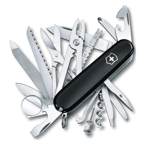 Складной нож VICTORINOX SwissChamp, 33 функций, 91мм, черный мультитул victorinox swisschamp wood 1 6791 63