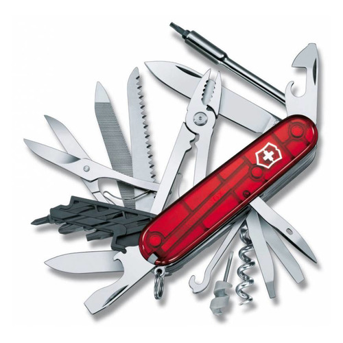 Складной нож VICTORINOX CyberTool L, 39 функций, 91мм, красный полупрозрачный нож перочинный cybertool 41 91мм 39 функций полупрозрачный красный