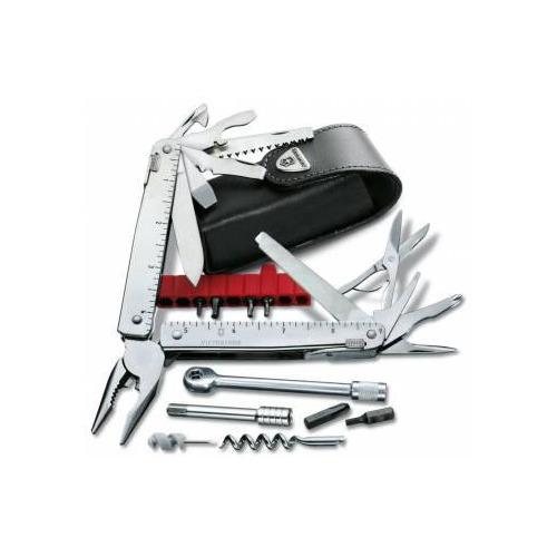 цена на Мультитул VICTORINOX SwissTool X Plus Ratchet, 40 функций, серебристый [3.0339.l]