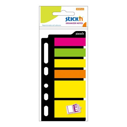 Закладки самокл. индексы пластиковые Stick`n 21070 6цв.в упак. 25лист для органайзера 25x45мм+12x45м 24 шт./кор. цена и фото