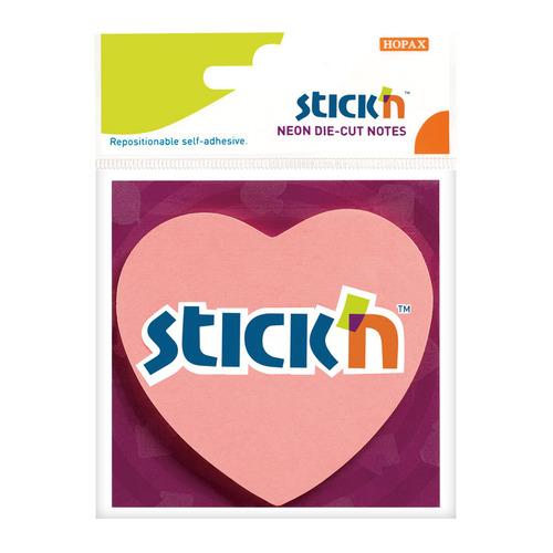 Блок самоклеящийся бумажный Stick`n 21448 70x70мм 50лист. 70г/м2 неон розовый вырубной
