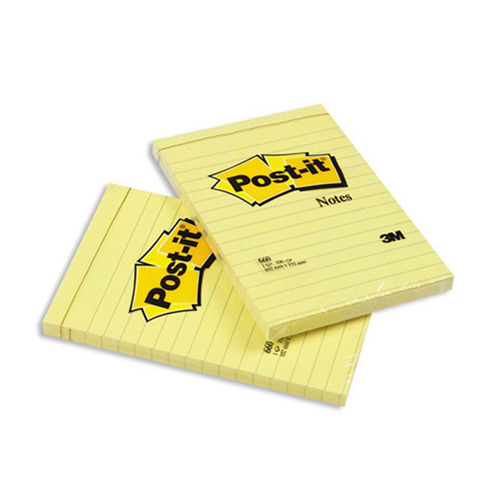 цена на Блок самоклеящийся бумажный 3M Post-it 660Y 7000033838 102x152мм 100лист. желтый 6 шт./кор.
