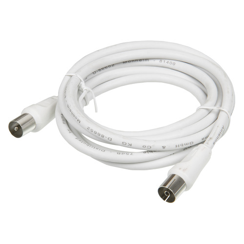 Кабель антенный HAMA H-11900, Coax (m) - Coax (f) , 1.5м, белый [00011900] promotion 5pcs coaxial coax rf adapter connectors tv pal male plug to f female m f