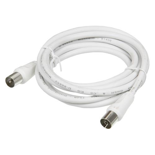 Фото - Кабель антенный HAMA H-11900, Coax (m) - Coax (f) , 1.5м, белый [00011900] кабель соединительный tp link tl ant24ec3s 3 метровый удлиняющий антенный кабель