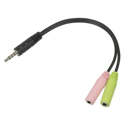 Фото - Адаптер аудио HAMA 2xJack 3.5 (f) - Jack 3.5 (m) , черный, без упаковки [00054573] адаптер аудио видео sennheiser jack 6 3 f jack 3 5 m 0 12м gold черный [561035]