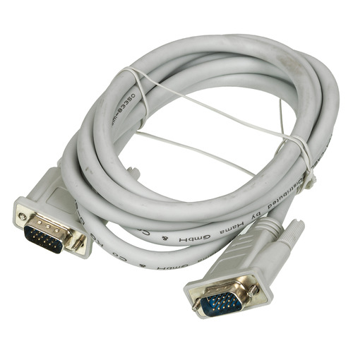 Фото - Кабель VGA HAMA H-20185, VGA (m) - VGA (m), 1.8м, серый [00020185] кабель svga ningbo cab016s 20m vga m vga m ферритовый фильтр 20м серый