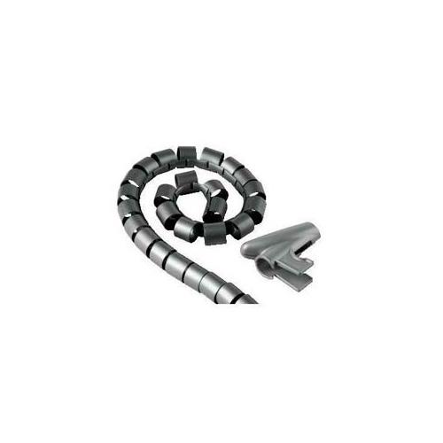 Кабельный органайзер Hama H-20583 (00020583) 2m grey кабель hama h 20583 органайзер easy cover 2 м 25 мм пластик серый