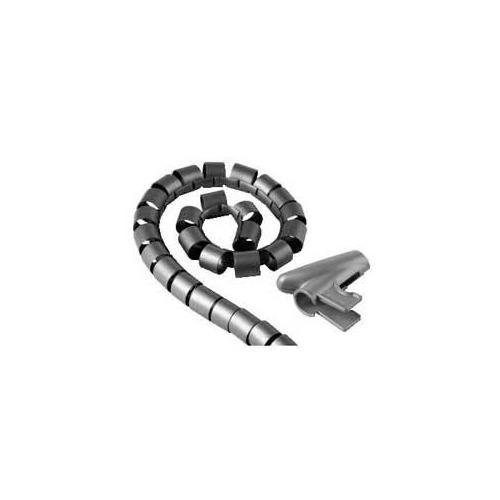 Кабель-органайзер HAMA H-20601 1.5м, 1 шт, серебристый кабель hama h 20583 органайзер easy cover 2 м 25 мм пластик серый
