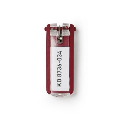 Упаковка брелков для ключей DURABLE 1957-03, красный 12 шт./кор.