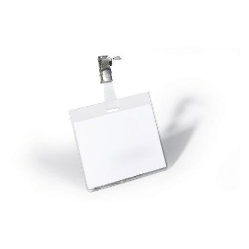 Бейдж Durable 8003-19 60х90мм горизонтальный зажим вращающийся ПВХ прозрачный (упак.:25шт) цена 2017