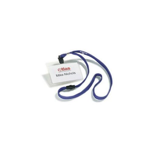 Бейдж Durable 8139-07 60х90мм горизонт. шнур:темно-синий текстильный ПВХ (упак.:10шт) цена 2017