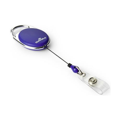 Рулетка для бейджа Durable 8324-07 80см карабин овальный синий (упак.:10шт) рулетка для бейджа durable 8325 23 80см зажим квадратный металл хром упак 10шт