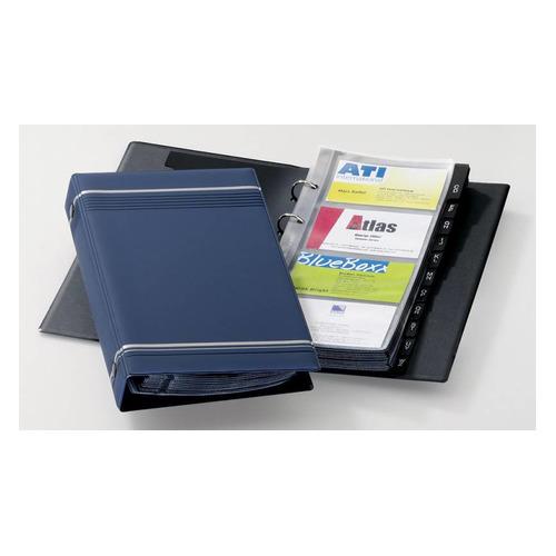 Визитница DURABLE Visifix 2385-07 переносная, для 200 визиток, синий 5 шт./кор.