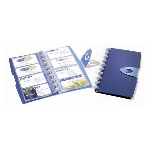 Визитница DURABLE Visifix Walk 2452-07 переносная, для 96 визиток, синий