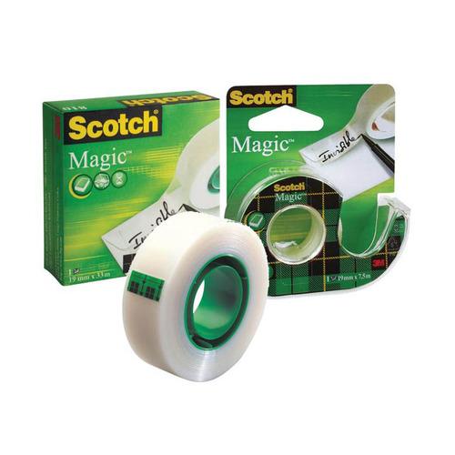Упаковка клейкой ленты 3M Scotch Magic, 19мм, 7.5м, 7000038136 12 шт./кор.