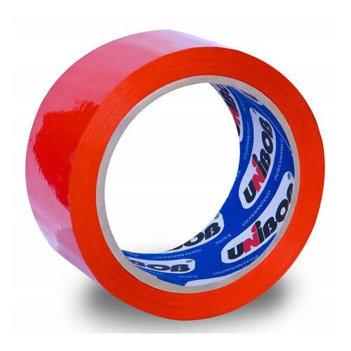 Фото - Упаковка клейкой ленты Unibob 600, упаковочная, красный, 48мм, 66м, 45мкм, полипропилен [41155] 6 шт./кор. клейкая лента коричневая unibob 48мм 66м 45мкм 6 шт в упаковке