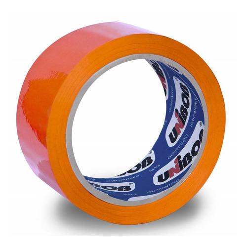 Фото - Упаковка клейкой ленты Unibob 600, упаковочная, оранжевый, 48мм, 66м, 45мкм, полипропилен [41156] 6 шт./кор. клейкая лента коричневая unibob 48мм 66м 45мкм 6 шт в упаковке