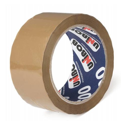 Упаковка клейкой ленты Unibob 600, упаковочная, коричневый, 50мм, 66м, 45мкм, полипропилен [41169] 6 шт./кор.
